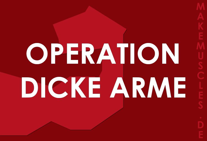 Operation Dicke arme: Das solltest du für brutale Arme umsetzen