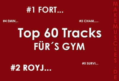 Die besten 60 Fitness Tracks für das Gym