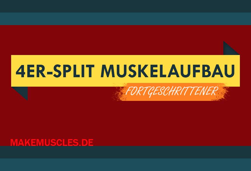 4er Split Muskelaufbau Kraftzuwachs Und Größere Muskeln
