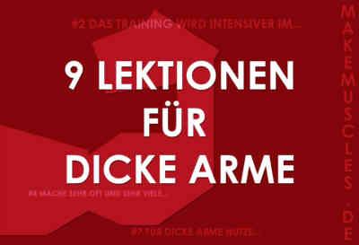 DICKE ARME: 9 Lektionen für starke und dicke Arme