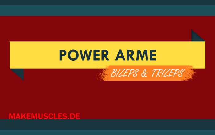 Power Arme: Bizeps, Trizeps und Unterarme kräftigen