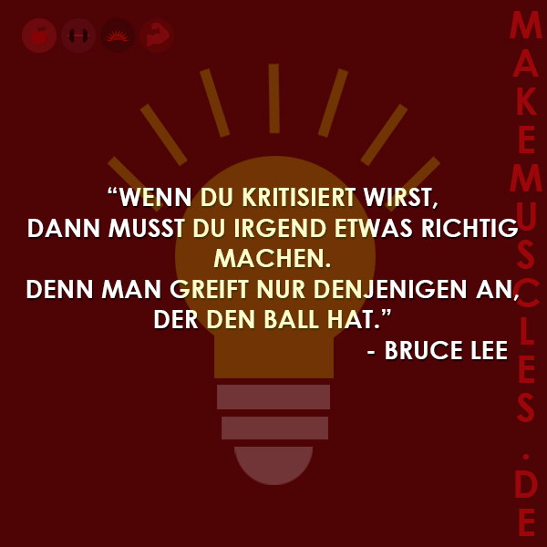 Bruce Lee Motivation Kritik