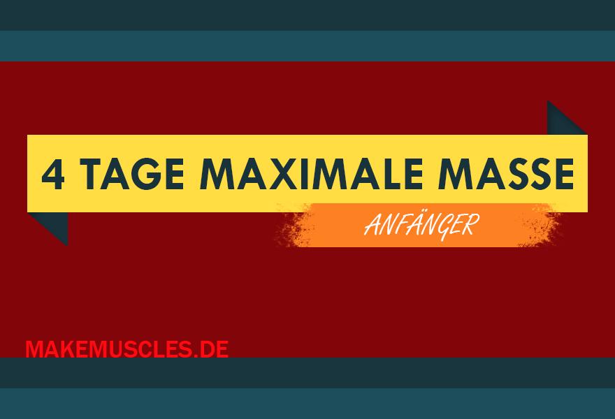 Trainingsplan Muskelaufbau Anfänger