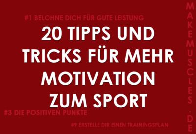 20 Tipps und Tricks für mehr Motivation zum Sport