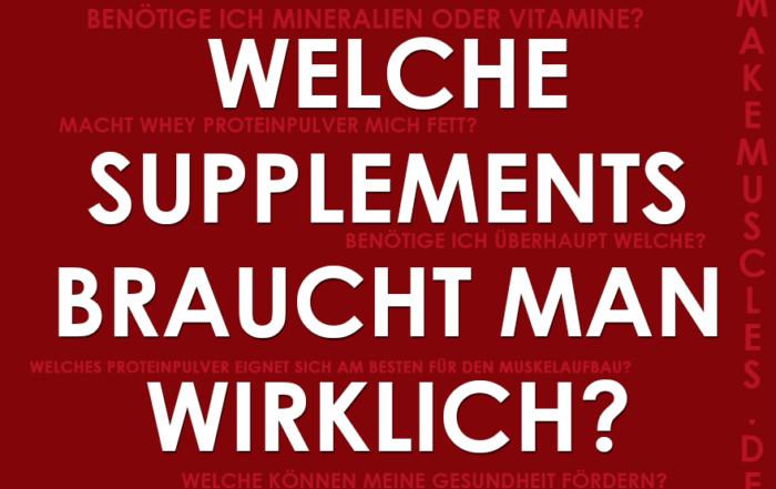 Supplemente-Guide - Welche Supplements braucht man wirklich