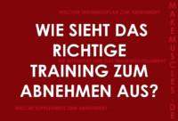 Das richtige Training zum Abnehmen