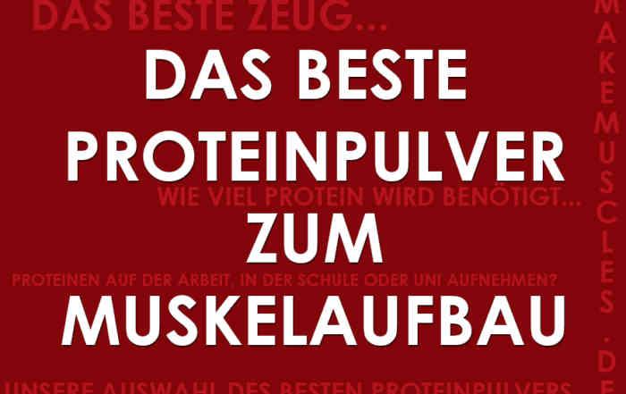 Das beste Proteinpulver