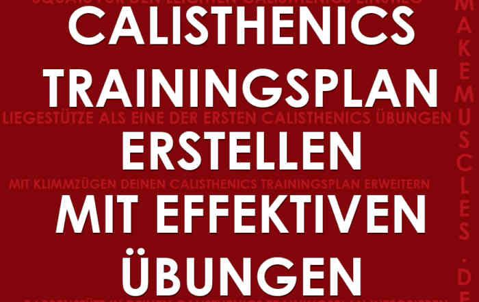 Calisthenics Trainingsplan erstellen mit effektiven Übungen