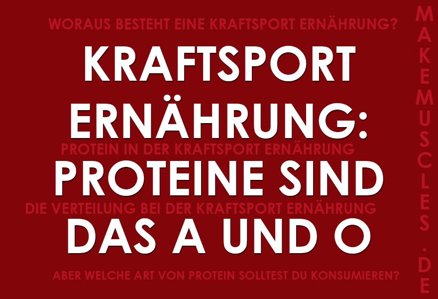 Kraftsport Ernährung: Proteine sind das A und O