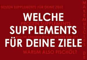 Welche Supplements?